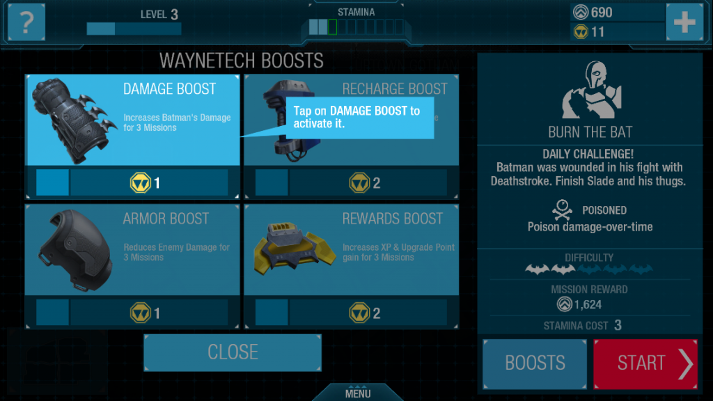 Consumable boosts