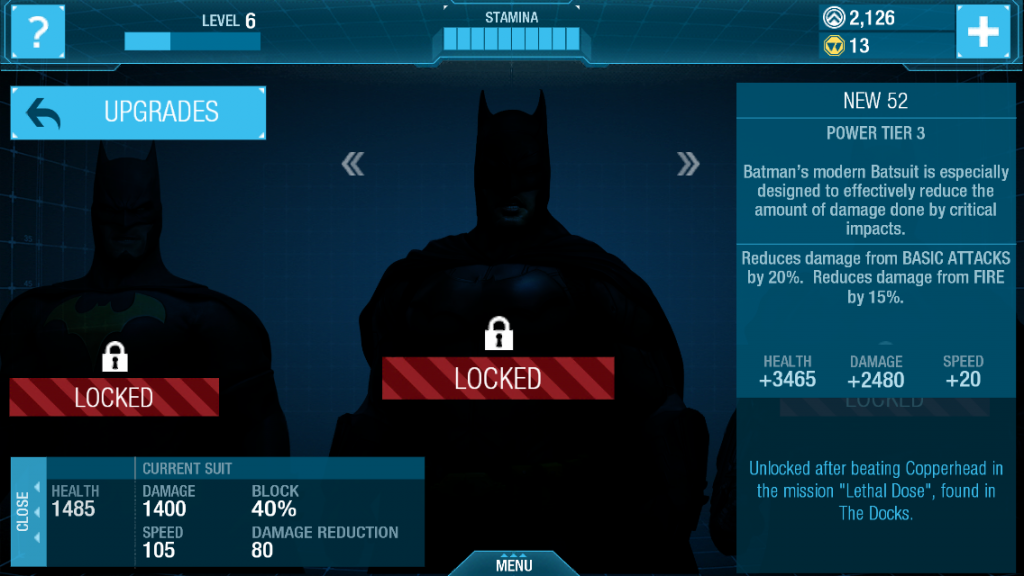 Batsuits are locked behind a grind