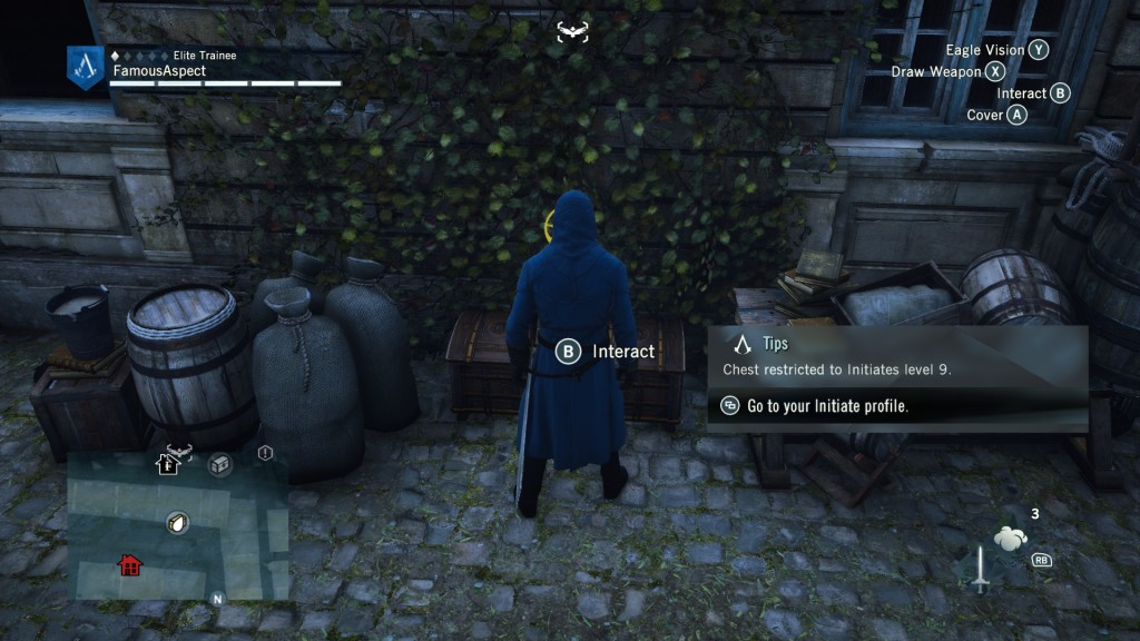 Assassin's Creed Unity initiates chest