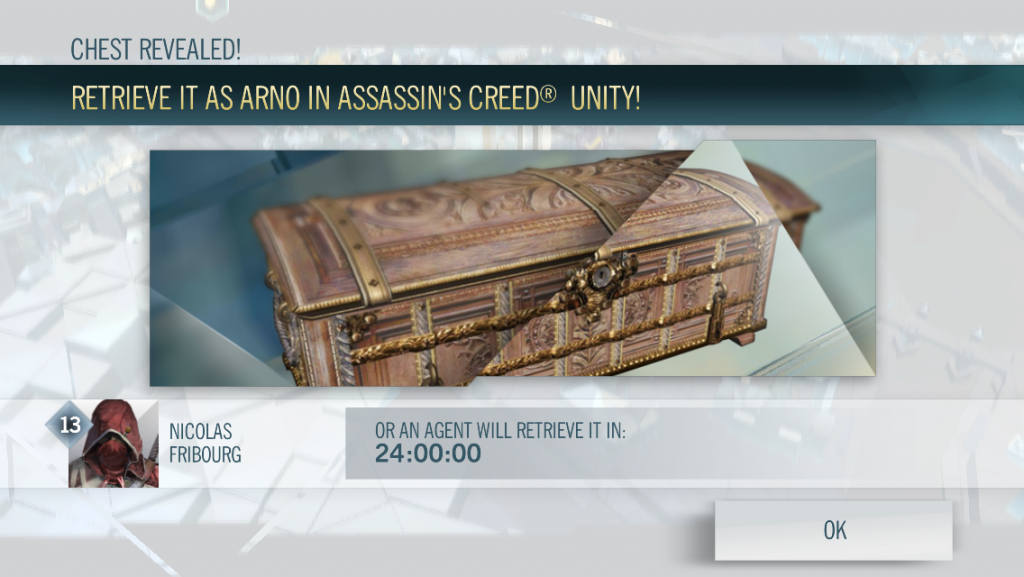 Assassin's Creed Unity companion app