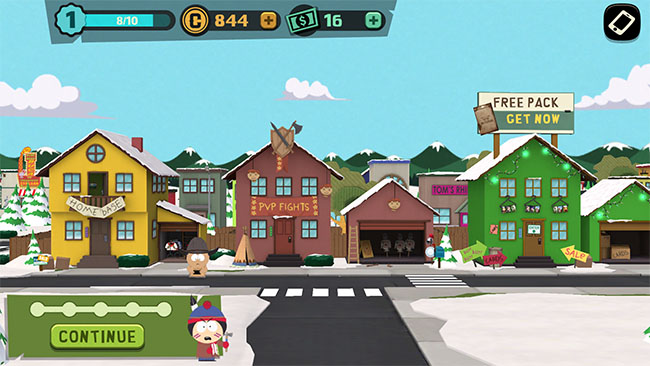 In an effort to boost monetization, South Park drives you to the gacha store with free packs
